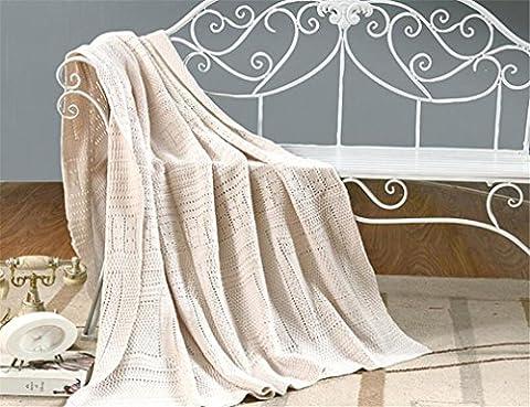Couvertures Hollow Cotton Handmade Stripe Tricot Blanket Throw ultra doux de qualité supérieure anti-statique multifonctions pour bébé