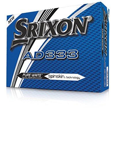 Srixon AD333 Golf Balls - Model 2018 - White - 1 Dozen