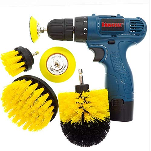shengzekun Scrubber Brush Drill Power Vollelektrische Borsten Badewanne Fliesenfugenreiniger Allzweckbürsten-Reinigungsset