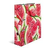 Herma Série fruits Classeur en carton à motif Format A4 pastèque Design Wassermelone