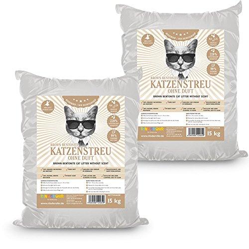 *RinderOhr Brown Betonit Katzenstreu ohne Duft 30kg*