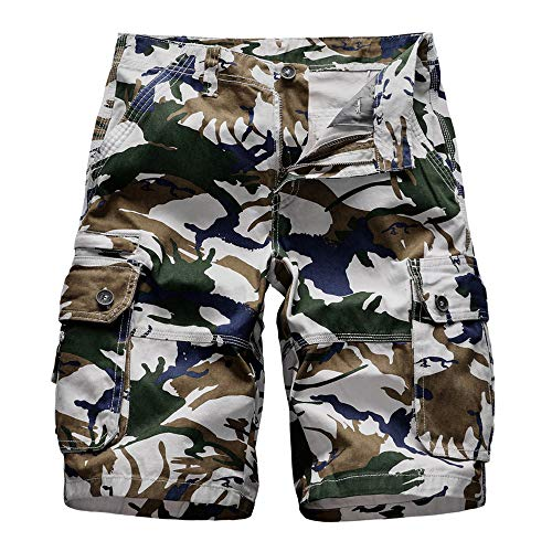 Digital Camo Cargo Short (Aiserkly Herren Sommer Cargo Shorts im Freien Baumwolle Lockere Jogging Hosen Kurze Camouflage Feldhose Arbeitshose Freizeithose)