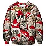 Herren Sweatshirt,TWBB Weihnachten 3D Mantel Pullover Winter Warme Slim-Fit Herbst Lange Ärmel Mantel