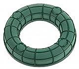 MOSY Steckschaum - Ring, 20 cm, Gitter, Wasserspeicher und Kerzenhalter, Steckmasse