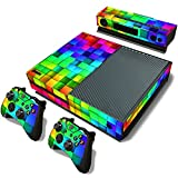 Colored Pattern Full Protective Skin Cover Sticker for Xbox One Console Kinect Sensor Remote Controllers Decal Set