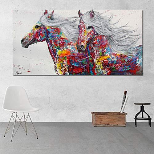 Gemalte kunst regenbogen muster farbe splash ölgemälde auf leinwand wandmalerei bild für wohnzimmer poster und drucke (kein rahmen)