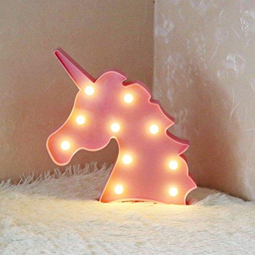 3D Flamingo LED Lampe Dekorative Festzelt Zeichen Brief Flamingo Nachtlicht Wand Dekoration für Wohnzimmer Schlafzimmer Home Weihnachten Von Morkka (Einhornkopf Rosa) -