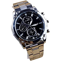 Familizo Business Men Stainless Steel Band Machinery Quartz Watch