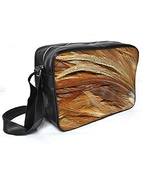 Snoogg Federn 3Textur Leder Unisex Messenger Bag für College Schule täglichen Gebrauch Tasche Material PU