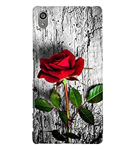 Vizagbeats Red Rose on Wood Back Case Cover for Sony Xperia Z5 Premium