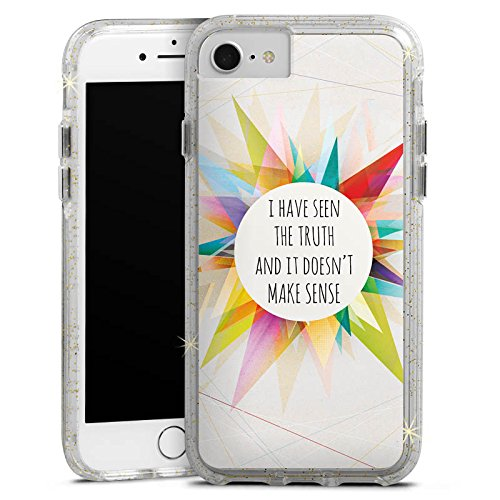 Apple iPhone 8 Bumper Hülle Bumper Case Glitzer Hülle Sayings Sprüche Phrases Bumper Case Glitzer gold