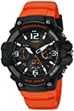 Casio Men's 'Heavy Duty Chronograph' Quartz Stainless Steel and Resin Casual Watch, Color:Orange (Model: MCW-100H-4AVCF)