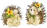 infactory Stroh Igel: Igelzwillinge aus Stroh Pieksy und Stupps (Dekoration für Frühling & Ostern)