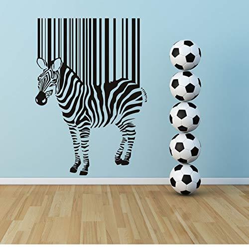 ZOUYUN Wandaufkleber große Selbstklebende DIY abnehmbare Schwarze Zebra Barcode wandaufkleber kinderzimmer Dekoration 41 * 59 cm