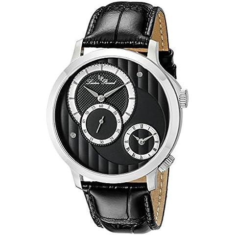 Lucien Piccard Uomo lp-10337–014Messina Display analogico al quarzo nero orologio
