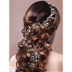Accesorios para el pelo para novia (color plata)