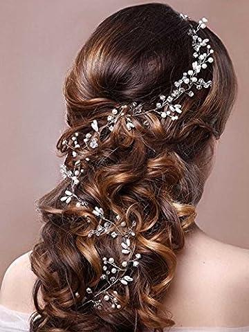 aukmla Strassbesatz Haarband und Stirnband mit Kristall, Fashion Zubehör für Frauen und Mädchen (1920 Bride Kostüm)