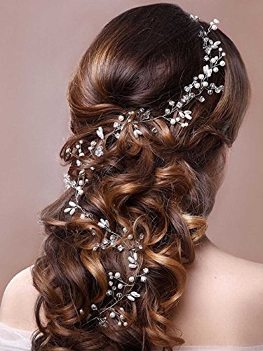 Aukmla Headpieces Jewelry Fashion Headband and Hair Accessories for Women and Girls (Silver Color)