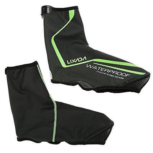 Lixada copriscarpe protettive per scarponi da corsa (nero + verde, m(eu40-42))