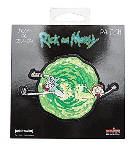 Rick and Morty - Portal, Officially Licensed Artwork - Embroidered PAT