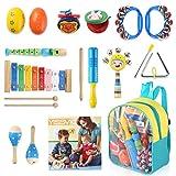 YISSVIC Juguetes de Instrumentos Musicales para Niños 11 en 1 Set...