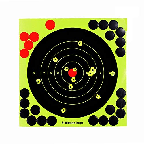 20,3 cm 30,5 cm Stick Splatter Bullseye Reactive Selbstklebende Schieß-Zielscheiben Jagd Training Zielpapier für Airsoft Air Gewehr, gelb, 8in ()