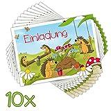 10 EINLADUNGSKARTEN zum Geburtstag für Kinder