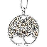 DarkDragon Anhänger Baum des Lebens Keltischer Lebensbaum Schmuck 316L Edelstahl/Gold – Heilung – mit Halskette Silberkette 2102