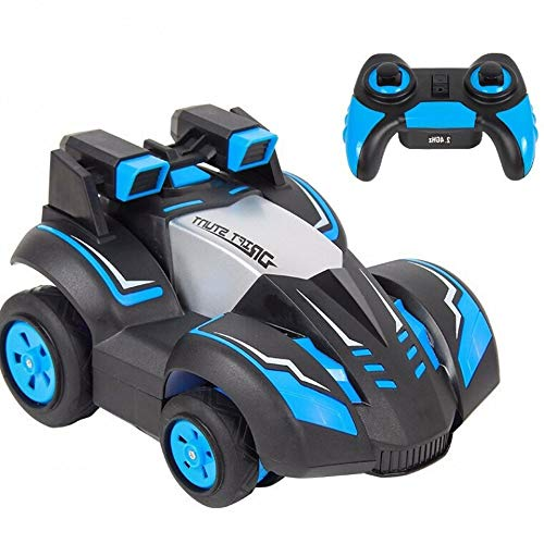 ELVVT 4WD High Speed   RC Dirt Bike Klettern Rennwagen 2,4G Led-leuchten Fernbedienung Violent Drift Race Geländewagen Modell Spielzeug Kinder Und Erwachsene Geburtstag (Color : Blue) (Dirt Bike Mini Rc)