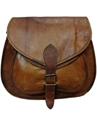 RSN Genuine Leather Brown Sling Shoulder Bag/Side Bag For Women