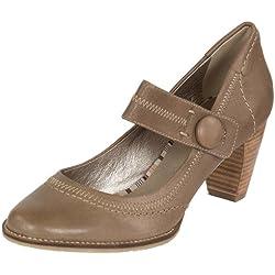 SPM Leder Damen Pumps Kusut, Farben:Taupe;Schuhgröße:38