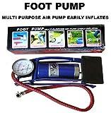#4: Krevia MultiPurpose High Pressure Air Foot Pump Easily Inflates.