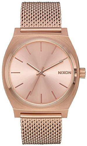 Nixon Time Teller Milanese Alle Rose Gold Uhr A1187897 Frauen (Nixon Watch Gold Rose)