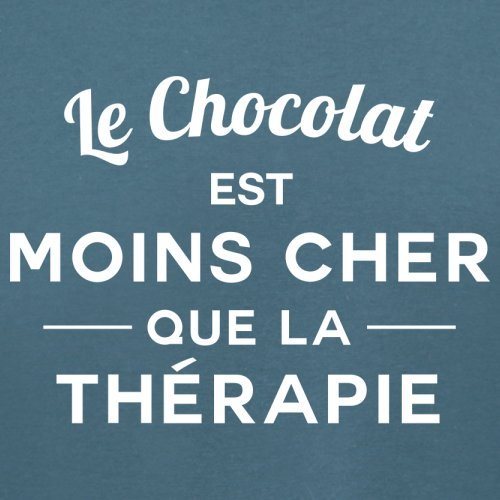 Le chocolat est moins cher que la thérapie - Femme T-Shirt - 14 couleur Bleu