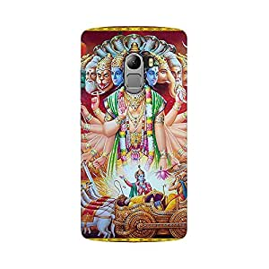 Mobicture Lord Vishnu Premium Printed High Quality Polycarbonate Hard Back Case Cover for Lenovo K4 Note With Edge to Edge Printing