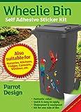 Wheelie Bin Aufkleber für Mülltonne, selbstklebend, Motiv Papagei