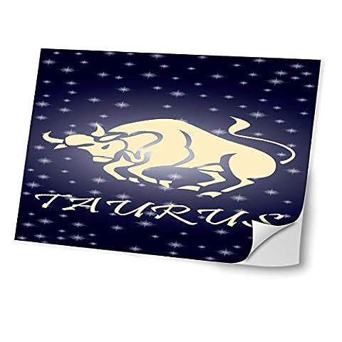 Tierkreis Stier, TAURUS, Skin-Aufkleber Folie Sticker Laptop Vinyl Designfolie Decal mit Ledernachbildung Laminat und Farbig Design für Laptop 12