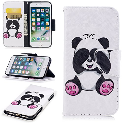 Casefirst iPhone 7 / iPhone 8 Wallet Case, [Folio Style ] Premium iPhone 7 / iPhone 8 Card Cases Stand Feature for iPhone 7 / iPhone 8 [Panda ] Falling Flip Cover with Falling - Cover Panda Passport