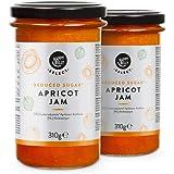 Marchio Amazon - Happy Belly Select Marmellata all'albicocca (70%) con ridotto contenuto di zuccheri, 2 confezioni da 310 g