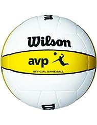 Wilson Volleyball, Outdoor, Professionelle Spieler, AVP Official Game Ball, Weiß/ Gelb