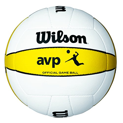 Wilson Volleyball, Outdoor, Professionelle Spieler, AVP Official Game Ball, Weiß/ Gelb