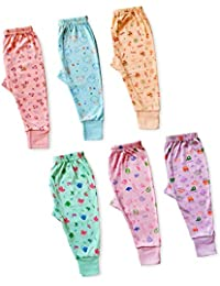 KITCHINDRA Baby Pajma 100% Cotton Housiry Leggings & Lowers for Kids Toddlers Track Pant with Soft Rib Permium Export Quality Baby Boys and Girls Unisex Lowers