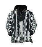 virblatt - Baja Hoodie Herren und Hippie Jacke Alternative Kleidung - Amsterdam S