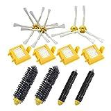 Conjunto de piezas de repuesto del kit de recambio de cepillos de cepillo y cepillo de cerdas laterales + cepillo para aspiradores iRobot Roomba serie 700 Robots 760 770 780 790 accesorios