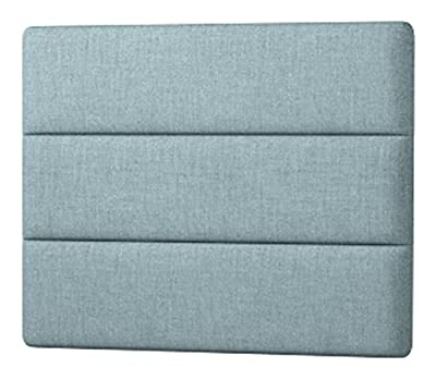 Happy Beds Cornell Lined Headboard, Fabric, Duck Egg Blue Cotton, 3 ft, Single - inexpensive UK light shop.