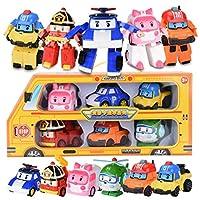 6pcs/Set  Robocar Poli Transformation Robot Car Toy