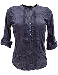 TOM TAILOR Damen Langarmshirt Lovely Crincle Blousehirt
