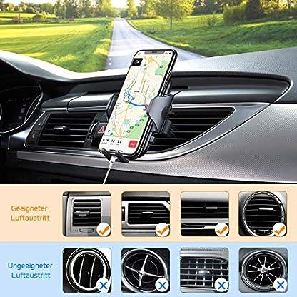 VANMASS-Handyhalterung-Auto-Handyhalter-frs-Auto-Lftung-Bombenfest-Vertikal-Horizontal-mit-Ausdehnbarer-Halterfe-Universal-fr-iPhone-Samsung-Huawei-Oneplus-und-andere-Smartphone-2019-Upgrade