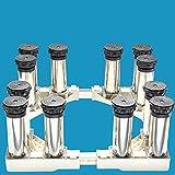 Waschmaschine Sockel Kühlschrank Basis Edelstahlfüße 4 Starke Füße Multifunktional Einstellbare Basis Für Trockner Waschmaschine Und Kühlschrank,12legsB