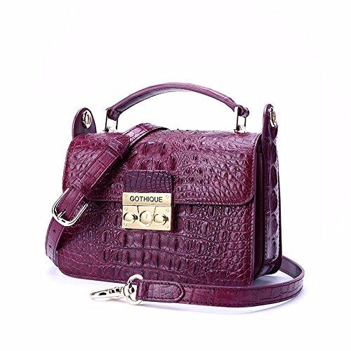lpkone-Chers motif crocodile Messenger Bag, sacs à main sacs à bandoulière femme petit emballage Purple